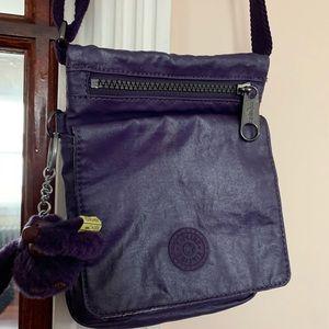 KIPLING Purple Multi Zipper Crossbody Bag